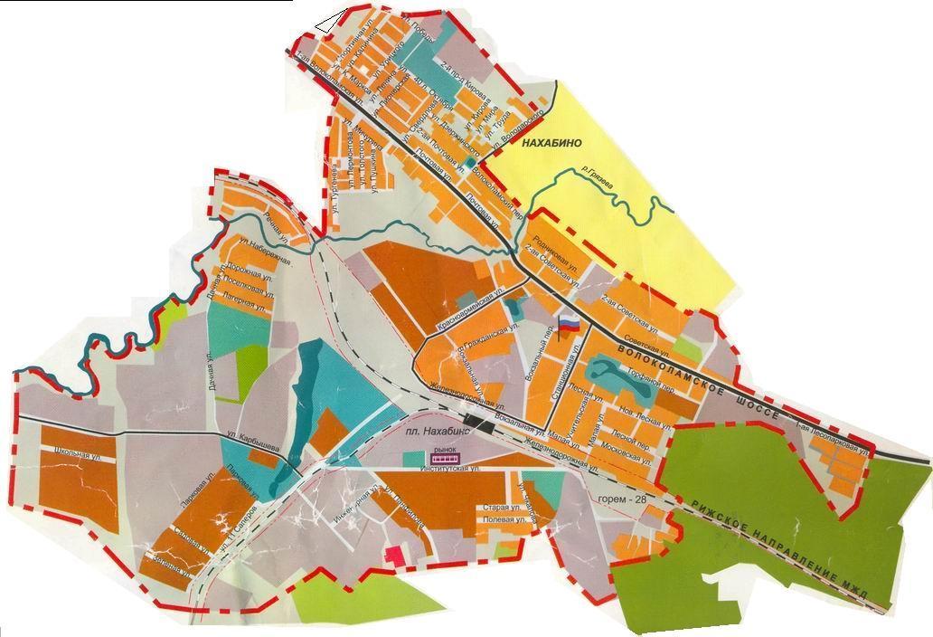Нахабино, Карта поселка